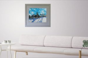 painting, quin abbey, winter, seasons