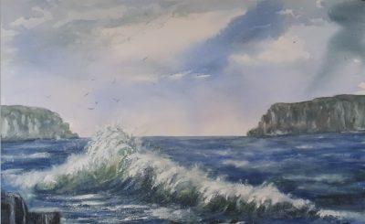 waves, atlantic wash, thunder.