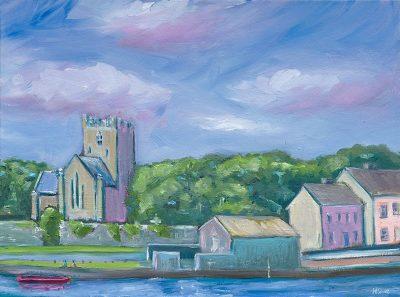 painting, Flannans cathedral, killaloe, Ireland