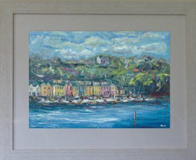 canal bank walk, killaloe, Ireland, painting,