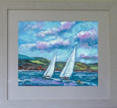 painting, Lough Derg, sailing