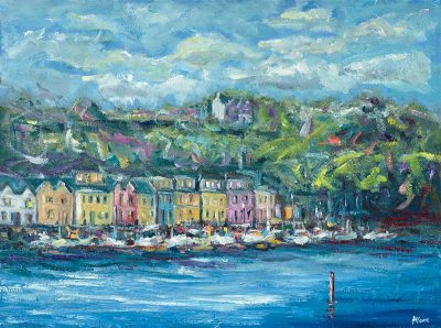 canal bank walk, killaloe, Ireland, painting,