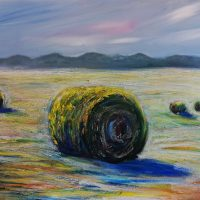 original, painting, hay bay, summer, farming