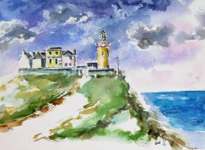 lighthouse, co Clare, river shannonn, opened 1854.