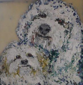 Pet portrait dog horse painting