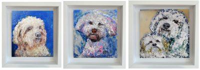 Pet portrait dog horse texture encaustic medium