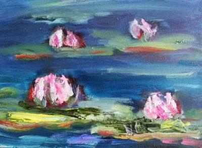 flower waterlillies oil painting dromoland